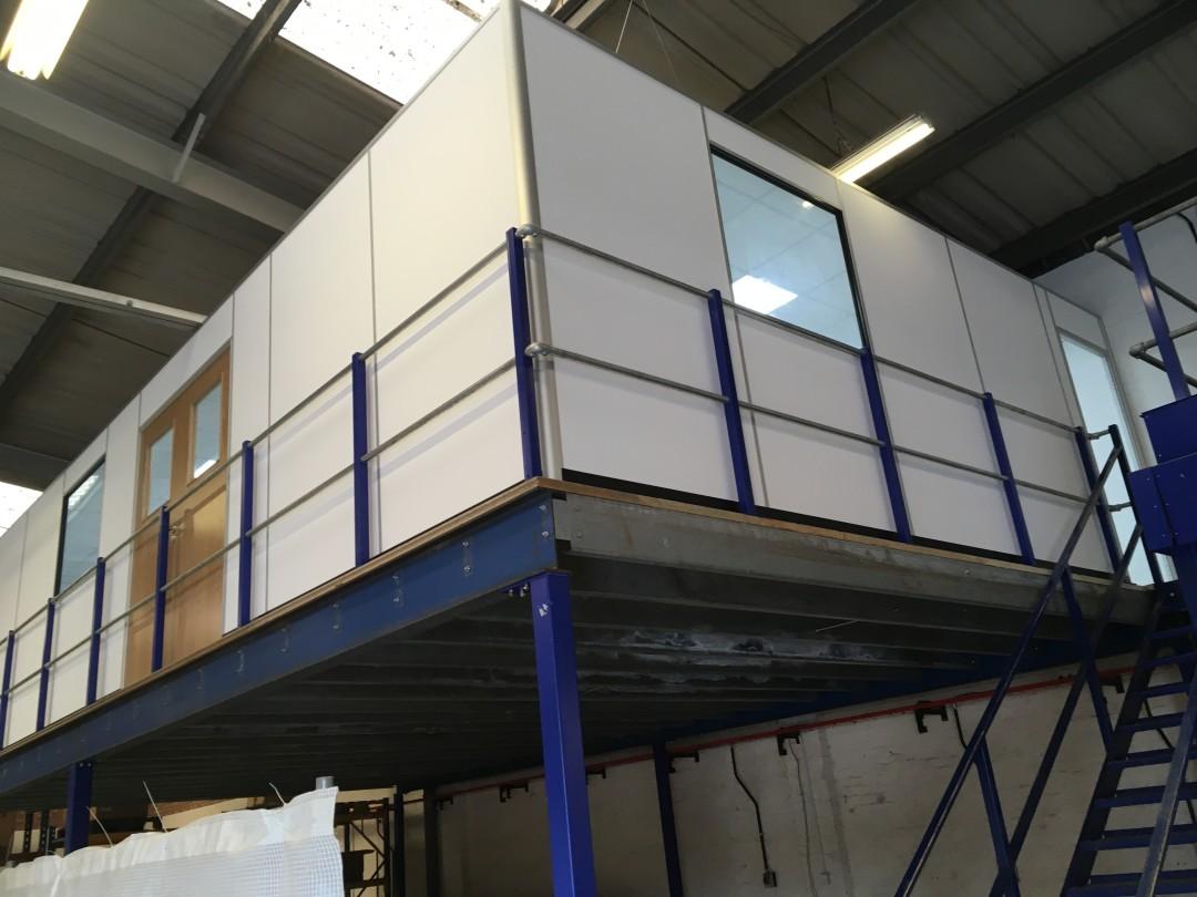 Office build on mezzanine floor commercial refurbishment for How to build a mezzanine