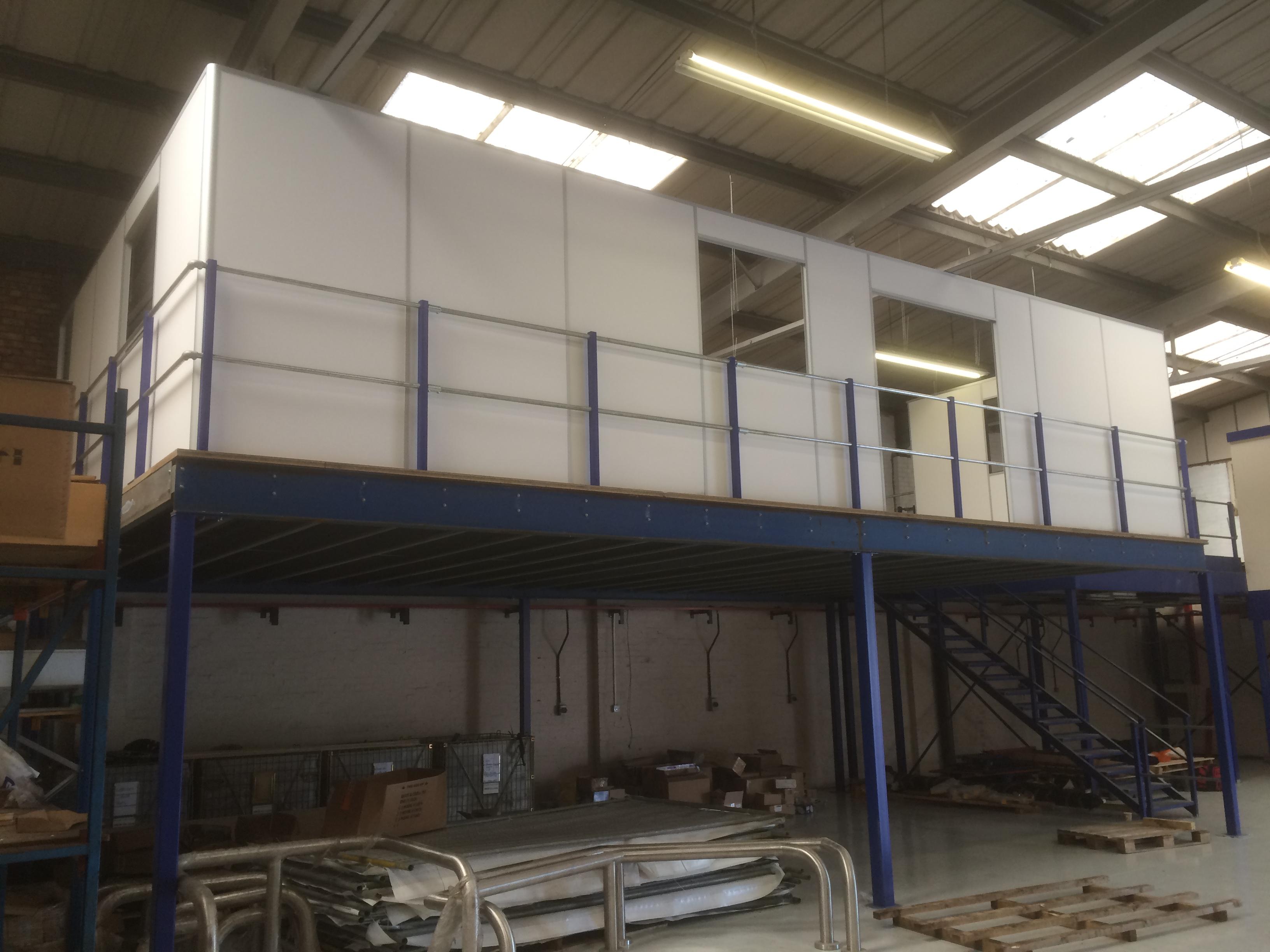 Office Build On Mezzanine Floor Commercial Refurbishment