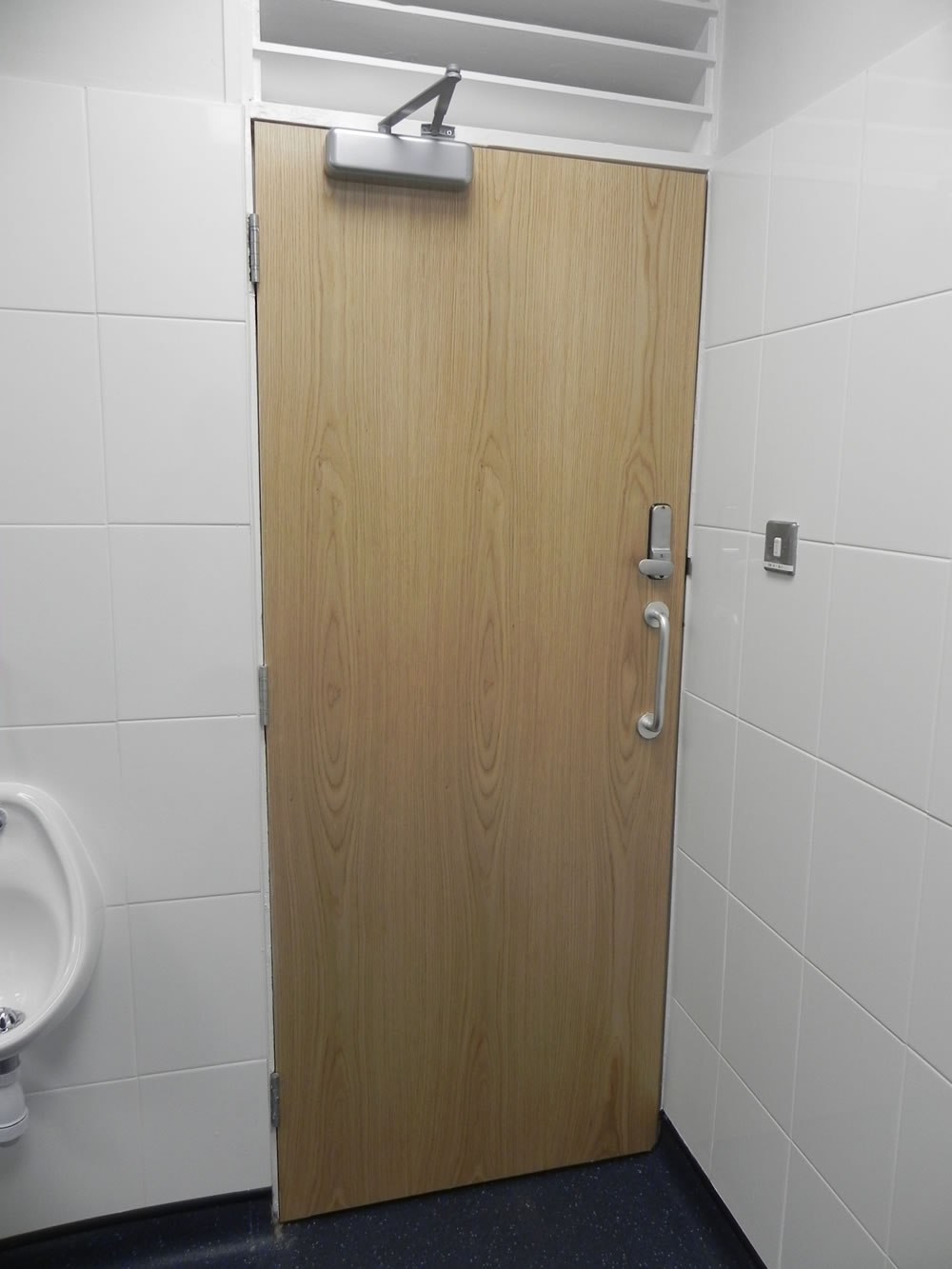 New Toilet Entrance Doors Commercial Refurbishment Office - Commercial bathroom entry doors