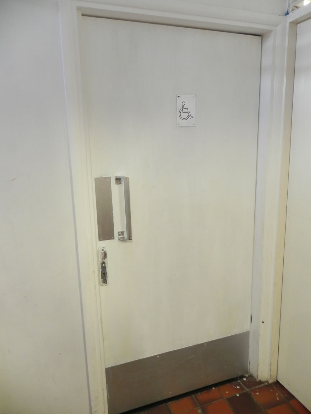 New Toilet Entrance Doors Commercial Refurbishment
