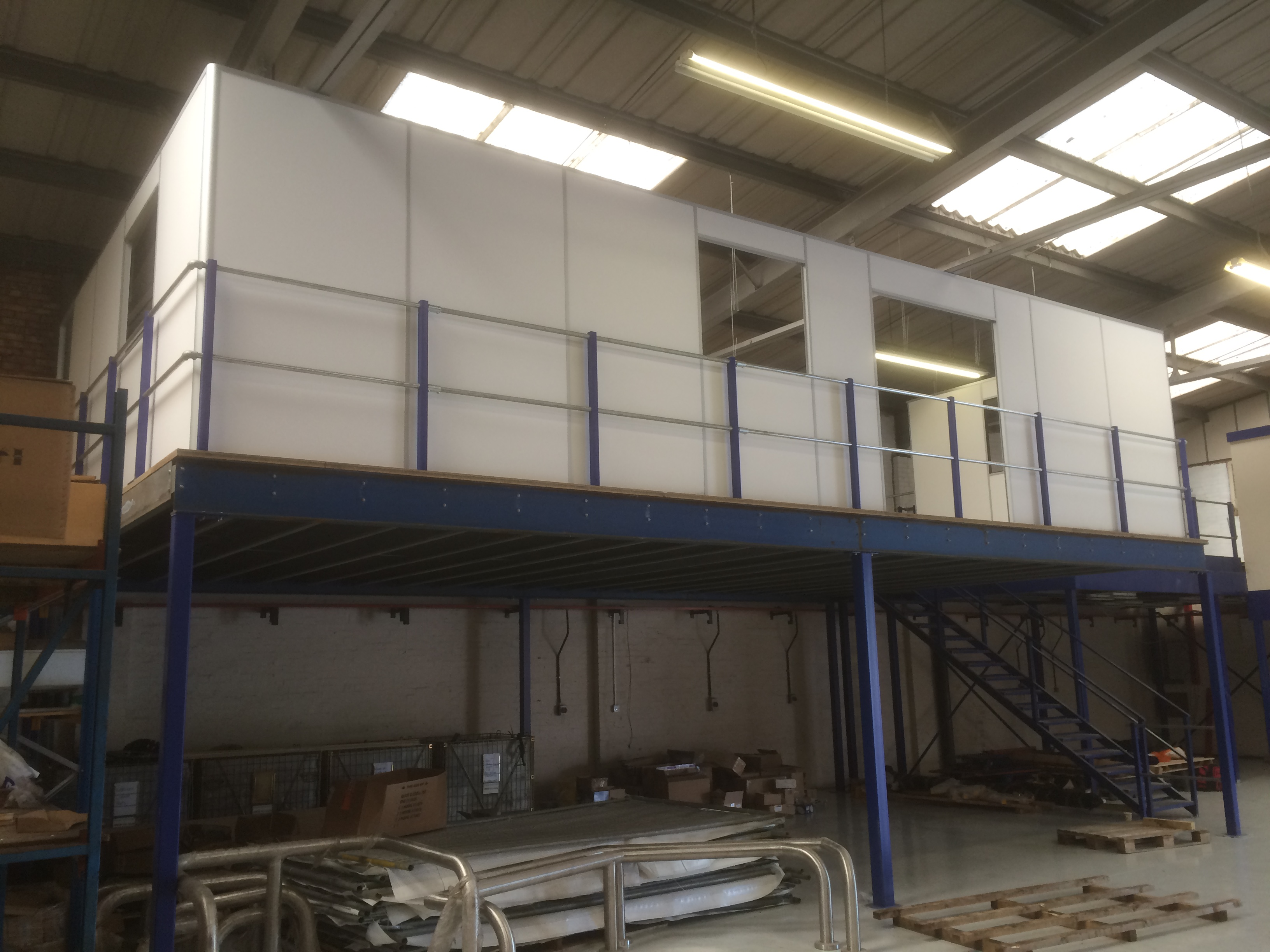 Office Build On Mezzanine Floor Commercial Refurbishment
